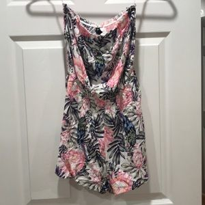 NEW H&M DIVIDED ROMPER MULTI-COLOR FLORAL SIZE 4